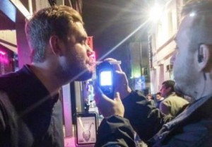 Breathalyser in use in Liverpool. Pic by Emily Lewis © JMU Journalism