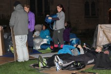 Spots are running out as a charity 'sleepout' event to raise awareness of homelessness beckons.