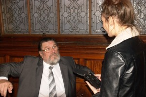 Ricky Tomlinson talks to JMU Journalism's Lydia Morris. Pic by Katie Dodson © JMU Journalism
