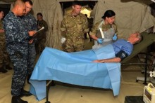 A team of army reserve medics from Liverpool deployed to San Diego, California to learn how to build pop-up hospitals.