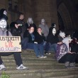 Campaigners from anti-capitalist group 'Anonymous' descended onto the streets of Liverpool on Bonfire Night.