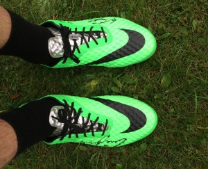 Football boots donated by Wayne Rooney  © JMU Journalism