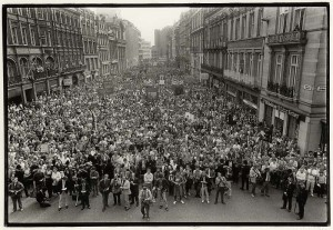 Image of council demonstration from Liverpool in the 1980s book © Dave Sinclair
