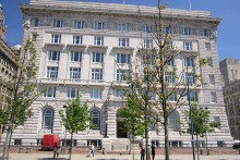 The Cunard Building is at the centre of a political row, after the city council installed 10 taps - which retail at £3,500 each - into new offices.