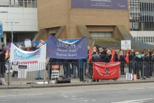 Merseyside NHS workers joined thousands across the UK as they staged a second four-hour strike in a pay protest.