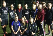 England's football star Sue Smith drummed up enthusiasm for LJMU's women's football team when she visited them.