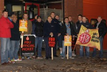 Merseyside firefighters walked out on strike  as part of a national industrial strike in a dispute with the government over pensions.