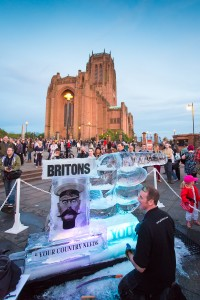 Ice sculpture outside Anglican Cathedral at LightNight  ©  Matt Ford/ Open Culture