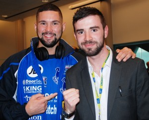 Liverpool boxer Tony Bellew talks to JMU Journalism's Sean Purvis ahead of the Nathan Cleverly fight. Pic by Adam Jones © JMU Journalism