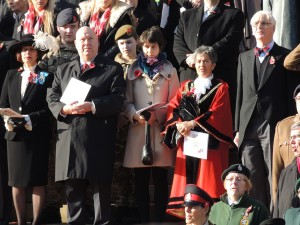 Mayor Joe Anderson and Lord Mayor Erica Kemp were among those paying their respects at Remembrance Sunday in Liverpool 2014. Pics by Connor Dunn © JMU Journalism