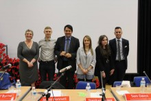Students and politicians joined together to discuss and debate hot topics of interest in a Question Time-style event.