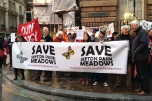 Campaigners were left disappointed after the council rejected proposals to halt building plans for green spaces.