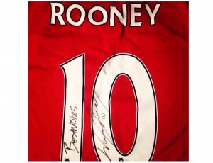 Signed shirt worn by Rooney in South Africa World Cup in 2010 © JMU Journalism