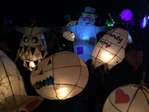Spooky Lanterns at the Sefton Park festival. Pic by © Gateacre school