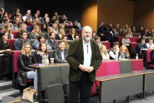 BBC Panorama journalist John Sweeney gave JMU Journalism students a fascinating insight into his documentary work.