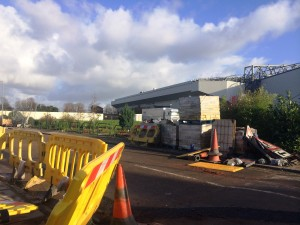 Construction work is starting on the Main Stand at Anfield. Pic by Craig Robertson © JMU Journalism