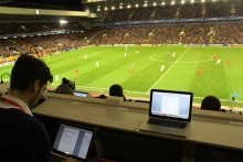 JMU Journalism's Dan Wright blogs about covering Liverpool in the Champions League under pressure at Anfield.