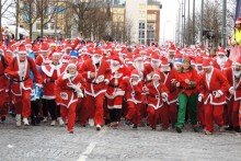 Santa Claus came to town early and en masse as thousands took part in the 10th anniversary BTR Liverpool Santa Dash.