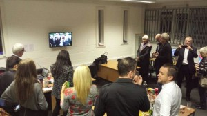 Bay TV Liverpool staff watch their launch. Pic © Bay TV Liverpool