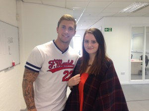 JMU Journalism's Samantha Gaulter-Green meets TOWIE heartthrob Dan Osbourne
