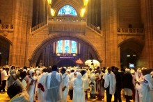 Hundreds of Ethiopians gathered at Liverpool's Anglican Cathedral to celebrate the Timkat festival.