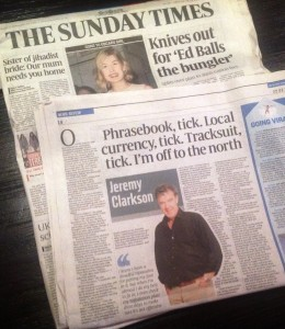 Jeremy Clarkson's column about his visit to Liverpool © Sunday Times / News International