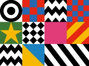 Design motifs from Sir Peter Blake's Everybody Razzle Dazzle, 2015. Pic © Sir Peter Blake