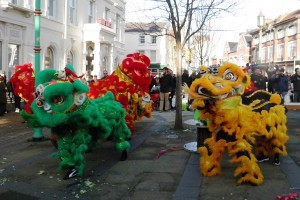The 'opening eye' ceremony in Liverpool to herald the upcoming Chinese New Year. Pic by Gemma Abbey © JMU Journalism