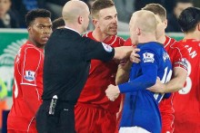 Tempers flared but there was little else to spark the Merseyside derby into life as Everton and Liverpool drew 0-0 at Goodison Park.