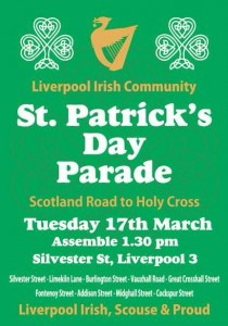 Information on Tuesdays St. Patricks Day parade © Cairde na hEireann Liverpool