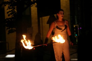 2014's fire dancing group, Bring the Fire Project © Flickr/LJMU Photo