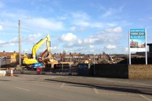 Work begins on the building of 200 new houses, as Mayor Joe Anderson aims to meet his pledge of 5,000 new homes.