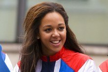 Liverpool athlete Katarina Johnson-Thompson broke the British record for the 800m, narrowly missing out on a new world record.