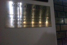 A plaque commemorating the late Michael Abbott has been unveiled at The Casa on Liverpool's Hope Street.