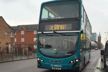 Arriva bus services have been hit by strike action, with more industrial action planned in the coming weeks.