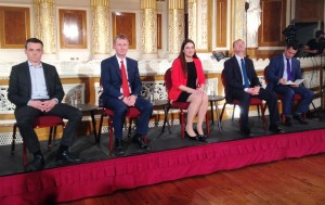 Representatives of the five major political parties debated General Election issues at St George's Hall. Pic by Connor Dunn / JMU Journalism