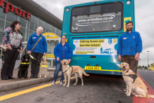 The blind and visually impaired can travel at ease with the launch of the first 'talking bus' in Merseyside.