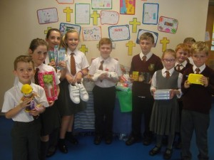 Refugee collection. Pic © Holy Trinity RC Primary School