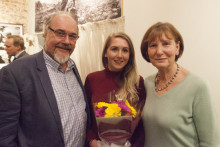 JMU Journalism graduate Josie Timms has been presented with the first Tim Hetherington Fellowship.