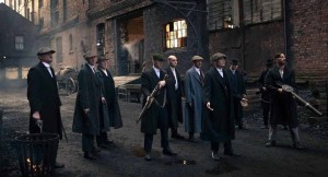Shot of Peaky Blinders filmed at Stanley Dock. Pic © BBC