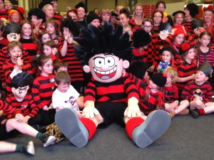 Beano's Dennis the Menace was one of the main attractions for children at Toytopia. Pic © Nigel Warway