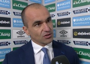Everton manager Roberto Martinez. Screengrab from BBC Sport