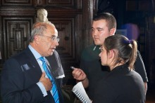 JMU Journalism students were among those welcomed to the second LJMU Chancellor Reception in London.