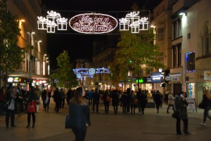 Christmas lights in Liverpool. Pic © JMU Journalism