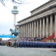 Thousands of people gathered at events across Merseyside for Remembrance Sunday, with the main tribute at St George's Hall.