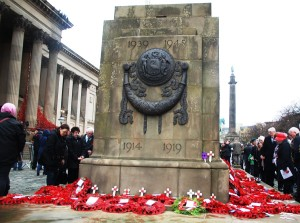 The Liverpool Cenotaph on St George's Hall Plateau. Pic by Ryan Jones © JMU Journalism