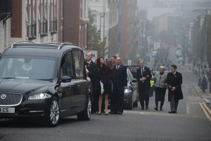 The funeral of PC Dave Phillips at Liverpool's Anglican Cathedral. Pic by Lewis Price © JMU Journalism