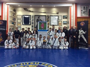 Fazakerley Ju-Jitsu club recieve their defibrillator © World Ju-Jitsu Federation