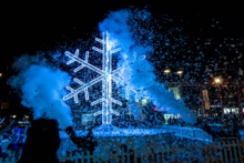Britain's biggest snowflake has been installed in Liverpool as part of a competition for explorers in the city centre.