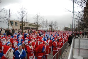 Liverpool Santa Dash 2015. Pics by Rochelle Beighton © JMU Journalism